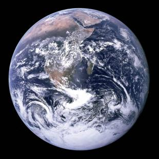 This 1972 NASA file photo shows a view of the Earth as seen by the Apollo 17 astronauts...